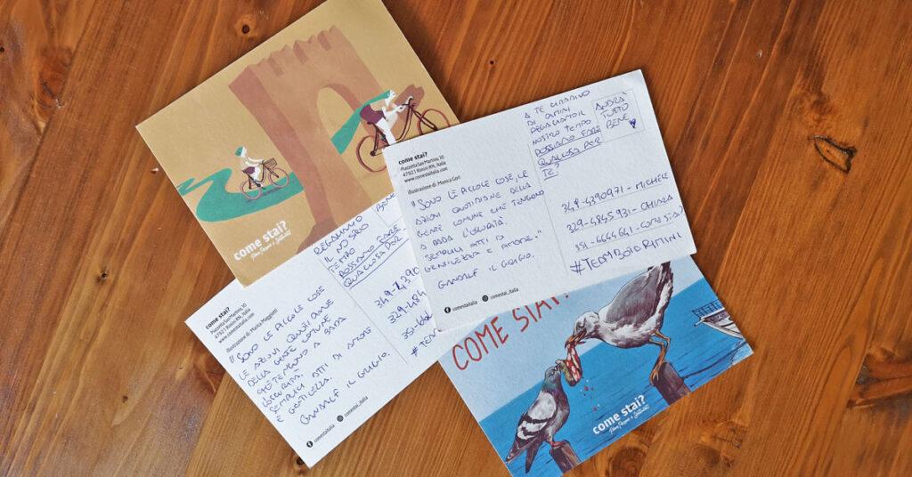 Le cartoline spedite dal TeamBòta